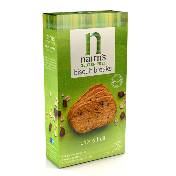 Gluten Free Oats & Fruit Biscuits 160g