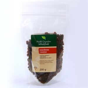 Raisins, Seedless 250g