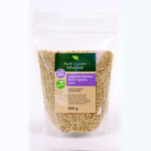 Rice, Brown, Short Grain, Organic 500g
