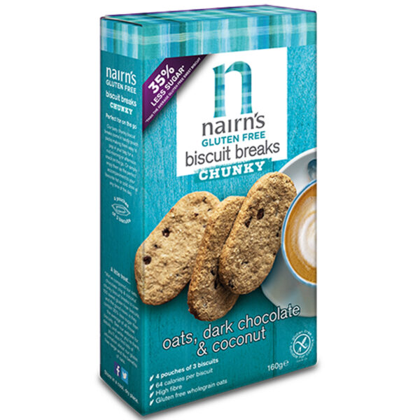 Gluten Free Choc & Coconut Chunky Biscuits 160g