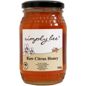 Simply Bee Raw Citrus Honey, 500g